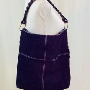 Handbags - Faux Suede Shoulder Tote